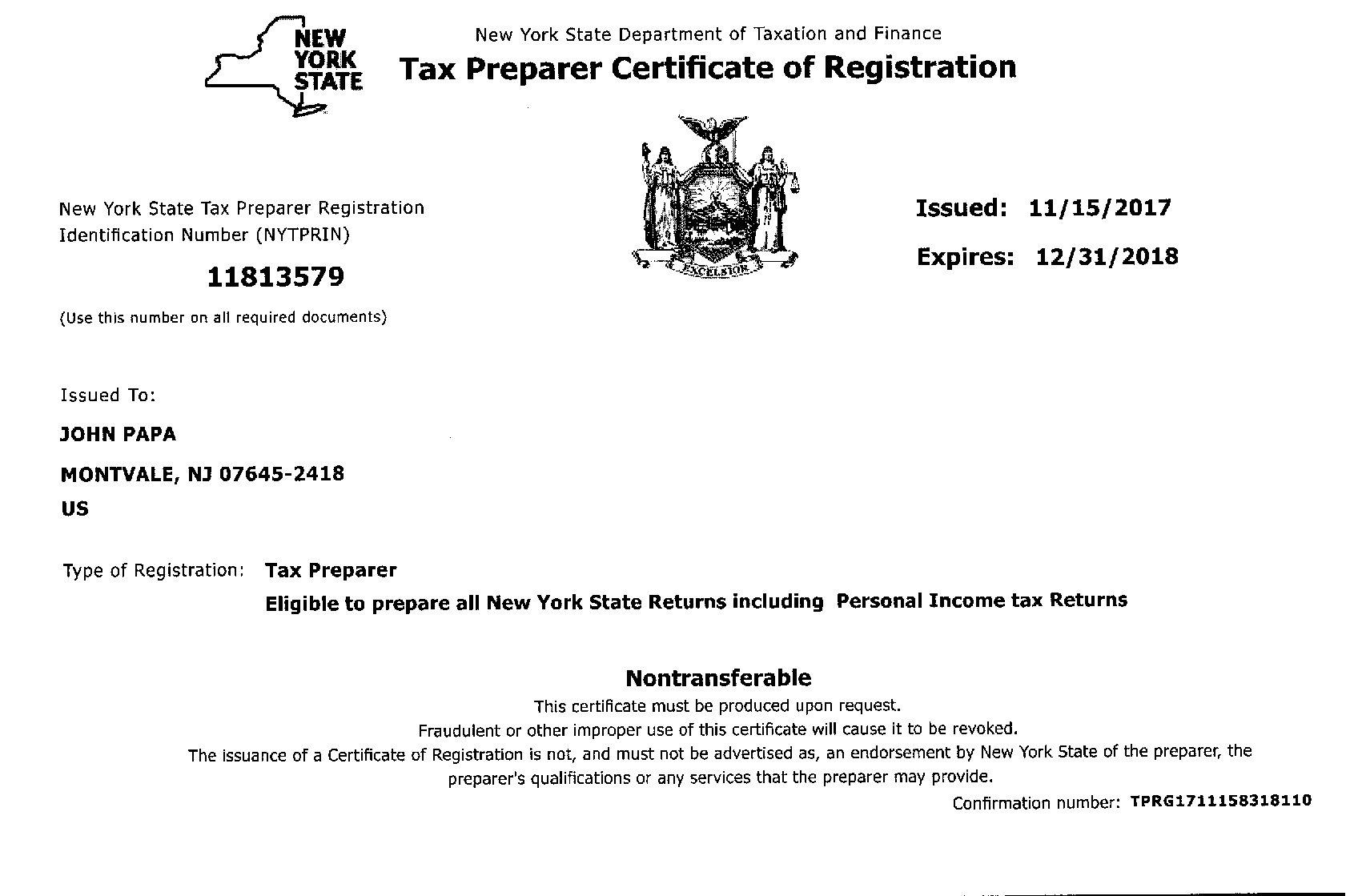 Papa Income Tax Preparation Mission Statement